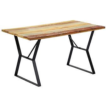 vidaXL طاولة الطعام 140x80x76 سم الخشب المستصلح الصلب