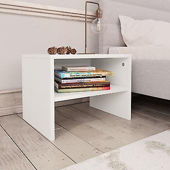 vidaXL السرير الجدول الأبيض 40×30×30 سم اللوح