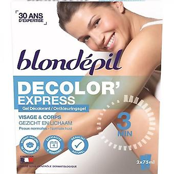 Blondepil Decolorexpress Decolouring Gel - For Body And Face - 2 X 75 Ml