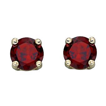 HS Johnson HSJ-GE2332 Women's 9ct Gold Ruby Stud Earrings