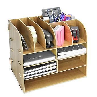منظم سطح المكتب المربع الخشبي | بوككر