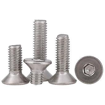 Screws 5-50pcs 304 stainless steel allen key head flat screw din7991 m2 m2.5 m3 m4 m5 m6 m8 hex socket flat countersunk head screw bolt