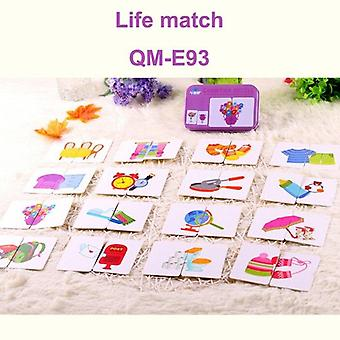 Children early educational head start training puzzle cognitive card vehicl/fruit/animal/life set pair baby learning toy