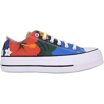 Converse Chuck Taylor All Star Lift OX Totally Blue/White-Black 563976C Femme