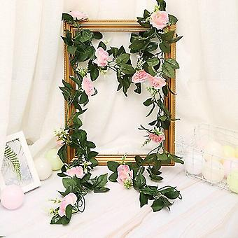 2.5M/8.2ft artificial flower silk flowers rose leaf garland vine ivy wedding  garden halloween christmas  deoration
