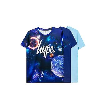 Hype Childrens/Kids Space T-Shirt (Pakket van 3)
