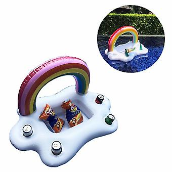 Swimming Supplies Inflatable Cloud Rainbow Cloud Drink Stand Floating Bar Water Tray