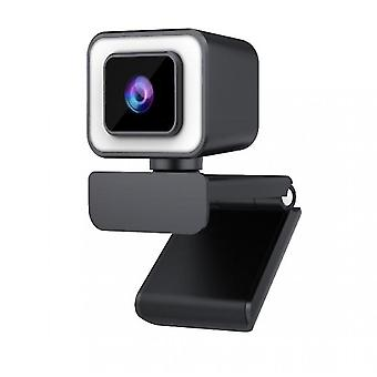 Caraele Hd 1080p Webcam, 2k With Microphone, Used For Recording, Calling, Games, Meetings, Online Courses(black)