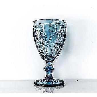 300 Ml handgemaakte Scandinavische stijl wijn en drankjes glazen bekers (Blauw-300ml)