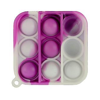 Erwachsene Pop es Push Bubble Fidget sensorisches Spielzeug Schlüsselanhänger für Anti-Stress und Angstlinderung (C)