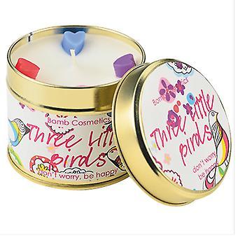 炸弹化妆品罐装蜡烛 - 三只小鸟
