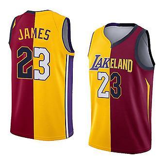 Lebron James no.23 Koripallopaita #23/los Angeles Lakers ja Cleveland Cavaliers Fan Commemorative Jersey