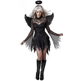 Black Fallen Angel Costume Halloween Party Angel Demon Acting Uniform