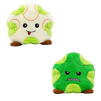 Reversible Green Cauliflower Plushie Double-sided Flip Doll Show Mood Toy