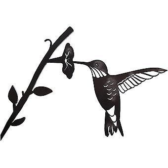 Silhouette en acier d'oiseau en métal, décor d'oiseaux de branche d'acier, art de figure en métal, décor d'art d'arbre, pour décorations de patio de jardin extérieur (a)