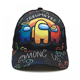 Among Us Juego Impresión periférica Gorra de béisbol para niños de ala ancha Primavera Verano Cartoon Sunshade Hat (forma 5)