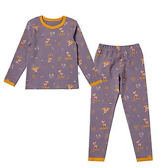 Girls' Warm Clothing Suits Cotton Pajamas Warm Children's Home Wear