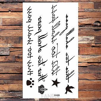 25 Desgin Cool Infinity Letter Végtelen víztranszfer Tetoválás Women Party Tatoo Body Arm Hand Ideiglenes kulcs tetoválás matrica férfi láb