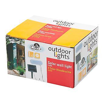 5 LED Solar Wand Lichtwiese-Startseite-Schuppen-Outdoor-Beleuchtung