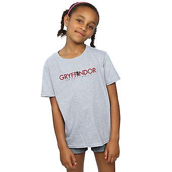 Harry Potter Gryffindor Text-T-Shirt für Mädchen