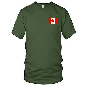 Canada nasjonale flagg - brodert Logo - 100% bomull t-skjorte damer T skjorte