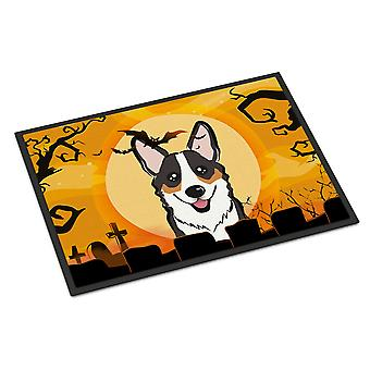 Halloween Tricolor Corgi Indoor of Outdoor Mat 24 x 36