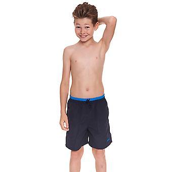 Zoggs Junior Boys piedra arenisca Swim Shorts/azul marino para niños de 6 a 15 años