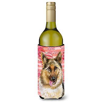 الراعي الألماني الحب زجاجة النبيذ بيفيرجي عازل نعالها