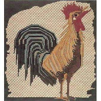 Mosaic of a Cockerel Needlepoint Kit