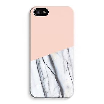 iPhone 5C koko Tulosta tapaus (kiiltävä) - A touch persikka