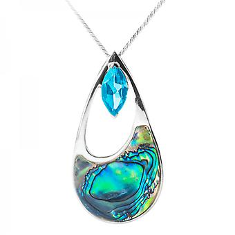 Shipton and Co Ladies Shipton And Co Exclusive Silver And Paua Shell Pendant PQA318PABT