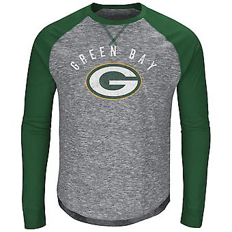 Majestic CORNER Raglan Long Sleeve - Green Bay Packers gray