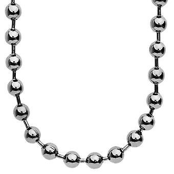 Iced out bling hip hop chain - BALL 8 mm black