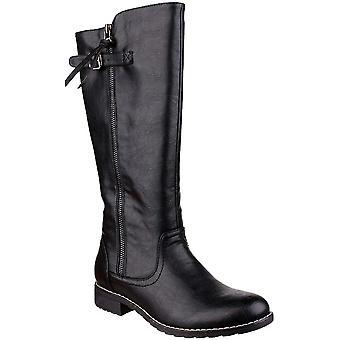 Divaz Womens/Ladies Bari Micro-fleece Trim Fashion Small Heel Boots