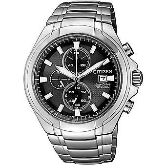 Citizen mens watch eco-drive Titan kronograf CA0700 86