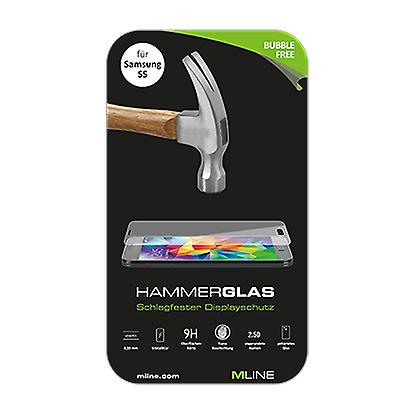 Mline hammer glass 0,33 mm hardness of 9 H for Samsung Galaxy S5
