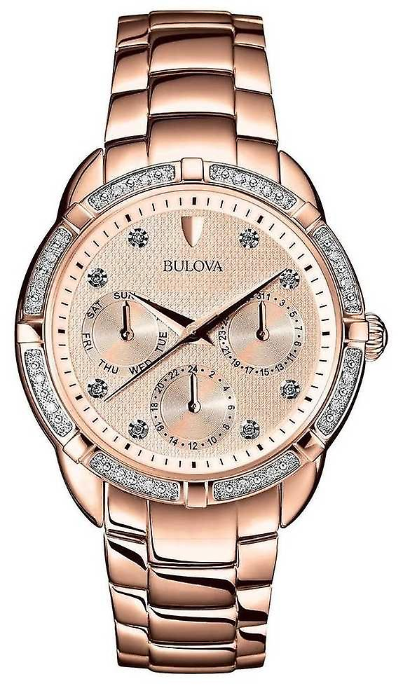 Bulova | Diamond Womens Rose Gold Dial | 98W178 Watch