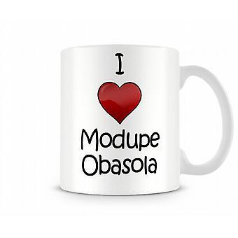 Ik hou van Modupe Obasola bedrukte mok