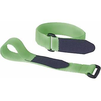 Fastech 688-656 Hook-and-loop tape with strap Hook and loop pad (L x W) 290 mm x 25 mm Green 2 pc(s)