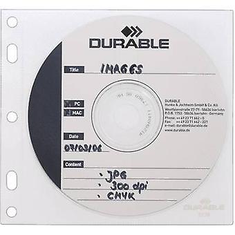 Durable CD box 2 CDs/DVDs/Blu-rays Polypropylene Transparent, White 10 pc(s) 523919