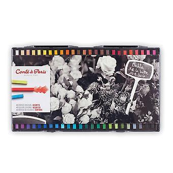 Conte a Paris Artists Colour Crayons 48 Assorted Colours