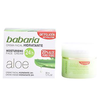 Babaria Aloe Vera crema hidratante 24 horas 50 ml pentru femei