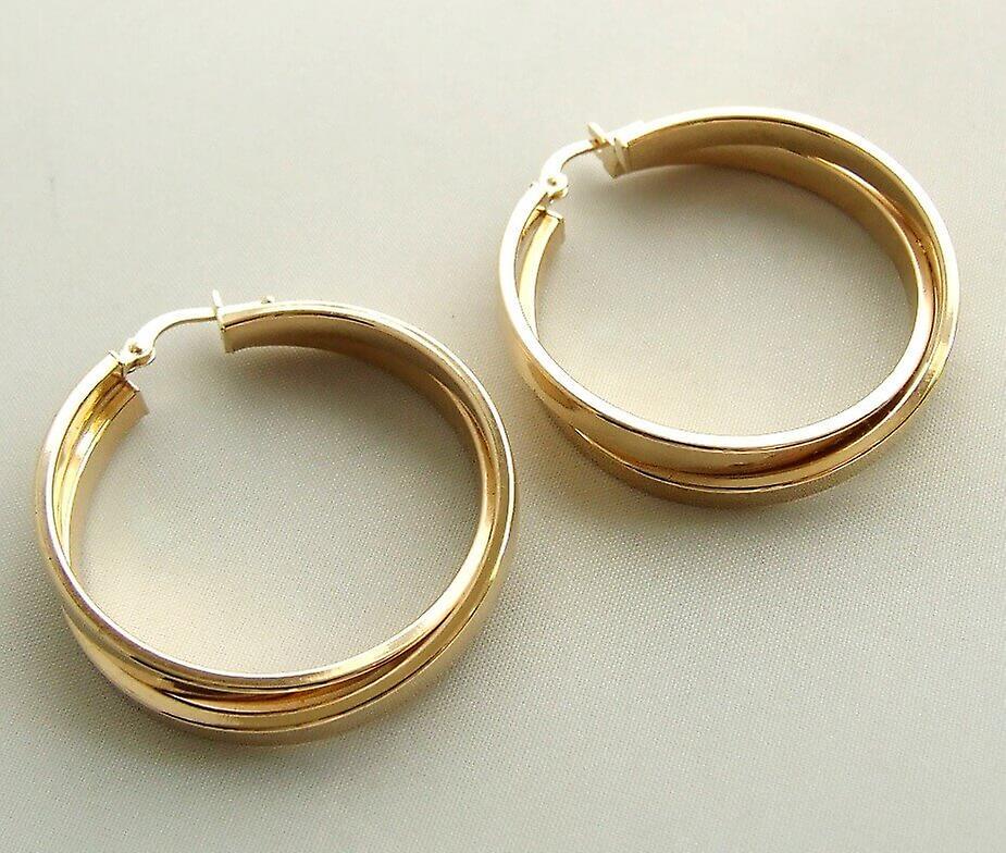 Christian gold earrings