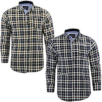 Brave Soul Mens Reverend Flannel Check Checked Brushed Cotton Long Sleeve Shirt