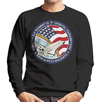 NASA STS 61B lanzadera de espacio Atlantis misión parche camiseta de los hombres