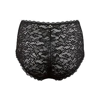 Aubade HK24 Women's Rosessence Black Lace Full Panty Highwaist Brief