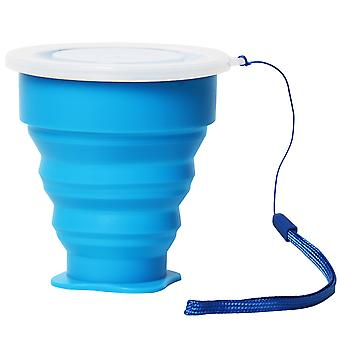 TRIXES Silikon Reisen Folding Saft Tasse heiße blau mit Deckel für Festival s Outdoor Camping