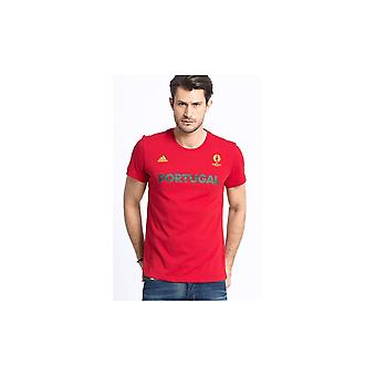 アディダス ポルトガル AI5612 フットボールすべての年の男性 t シャツ