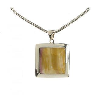 Кавендиш французского серебра рамке квадратный кулон Mookaite без цепи