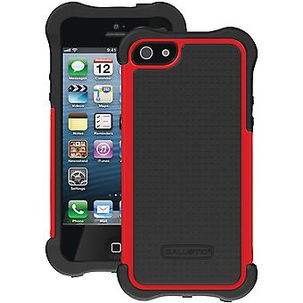 Ballistic Shell Gel MAXX Case for Apple iPhone 5/5S - Black/Red